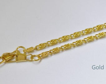 "Gold Purse Frame Wheat Chain/ 40cm(15"") and 110cm(43"") Available"