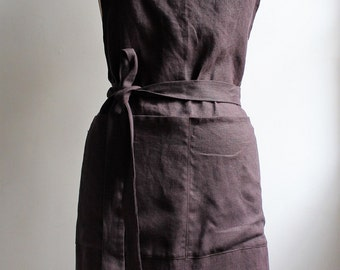 Linen Apron, Women's Apron, Kitchen Apron, Full Aprons
