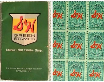 S & H Green Stamps //  Savings Books // Green Stamps // SH Redemption Books // Vintage Loyalty Programs // Sperry and Hutchinson