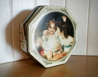 Vintage Victorian Tin, Sunshine Biscuit Tin, Biscuit Tin, Vintage Tin, Cookie Tin, Handled Tin, Fruit Cake Tin, Shabby Chic Tin, Kitschy Tin