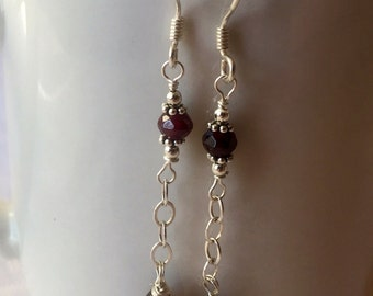 Garnet and Smokey Quartz set on Sterling Silver