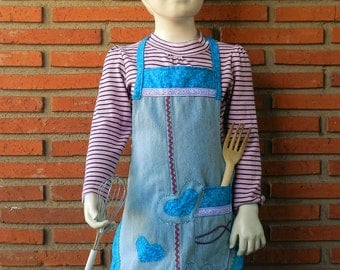 Girls Apron, Made to Order, Kids Aprons, Hadmade