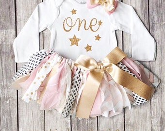 Twinkle Twinkle Little Star First Birthday Outfit | Sparkle | Smash Cake | Outfit for Pictures | gold glitter | 1st bday