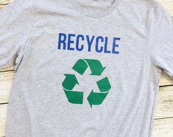 Recycle t-shirt | Earth Day | healthy | environment | science | save the planet |