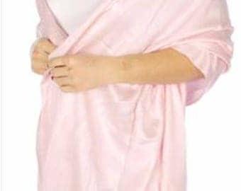 blush pink Pashmina Scarf - blush Bridesmaid's gifts - blush pink Bridesmaid scarf - blush bridal - light pink party favors - pink wedding