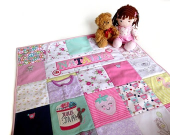 Personalized memory quilt - Keepsake blankets - Memory blanket - Baby clothes blanket - Memory quilts from clothing - Baby grow blanket