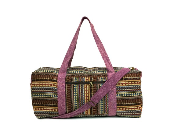 Aztec Overnight bag - Native inspired, Women's Weekender bag, Handmade Travel bag, Holdall, Cute Carry on bag, Boho Duffle bag, gift ideas