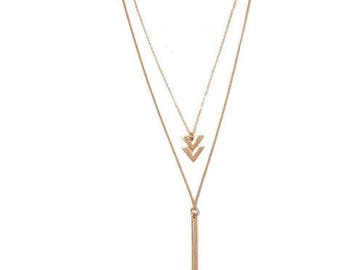 Long Layered Necklace - Long Layered Gold Necklace - Long Gold Necklace Chain - Long Gold Necklace - Long Chain Necklace - Gold Necklace