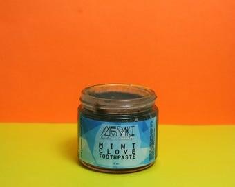 mint clove toothpaste \ 2 oz \ bentonite clay toothpaste \ vegan toothpaste \ organic toothpaste \ natural oral care