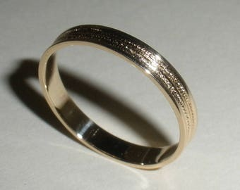 Gold Wedding Band Simple Modern Minimalist 14K Very Good Price Ready to Ship in 3 Business Days