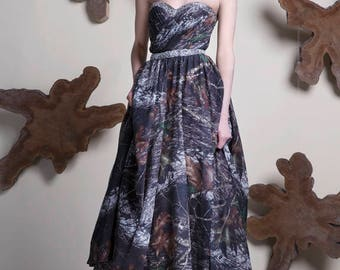 Licensed Mossy Oak And Real Tree AP Pink Prom Dress / Wedding Dress