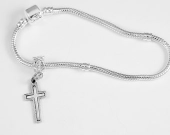 Christian Bracelet Cross Bracelet for Baptists Catholic Bracelet Episcopal Bracelet Protestant Bracelet European style