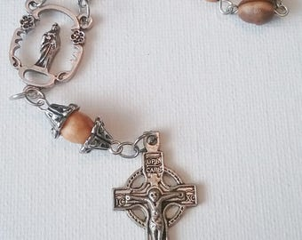 Light Wood Single Decade Rosary