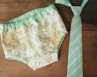 Adorable Circus Print Diaper Cover or Tie