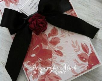 Handmade Birthday Card, Girlfriend, Fiancee, Wife, Partner, Personalized