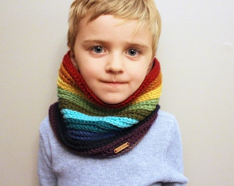 Rainbow Cowl Neckwarmer / ANY COLOUR /