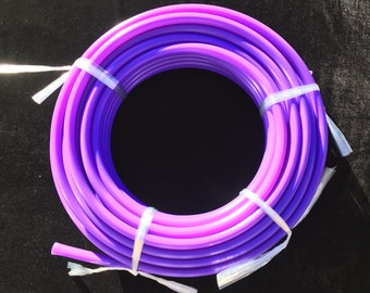 3/4 UV Amethyst Polypro Coil - 10ft, 50ft, 100ft Coil -Black Light Reactive- Hula Hoop Supplies