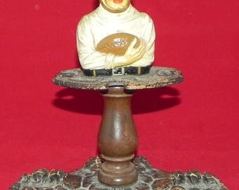 Outstanding Circa 1920's Football Player Figural Pipe Stand