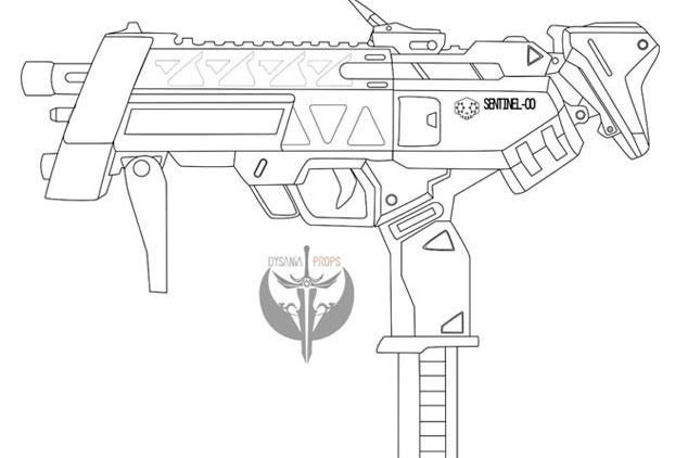 Sombras machine pistol blueprints overwatch from dysaniaprops on this is a digital file malvernweather Images