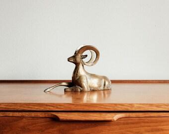 Vintage Brass Gazelle / Deer