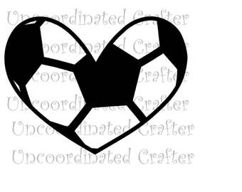 soccer heart layered svg