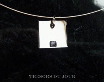 Unique Diamond PENDANT Necklace Gold Diamond Pendant Designs Modern Contemporary Diamond Solitaire Pendant Necklace Square Princess Diamond