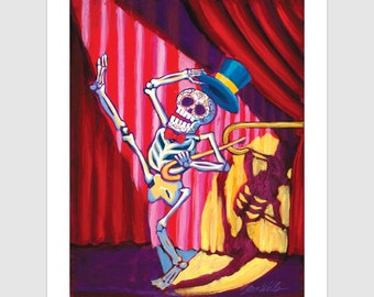 Hello My Baby!  11x14 Signed Day of the Dead [Dia De Los Muertos]  Print by NM artist Sean Wells