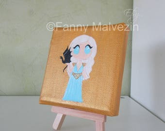 Daenerys Targaryen (Game of Thrones) - Small painting