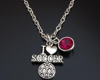 Soccer Necklace, Soccer Charm, Soccer Pendant, Soccer Jewelry, Soccer Gifts for Girls, Soccer Girl, Soccer Mom, Soccer Grandma, Soccer Aunt