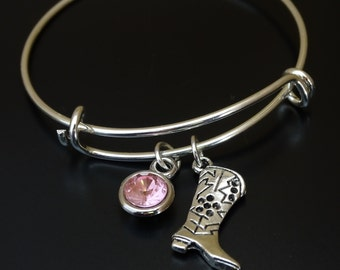 Cowgirl Bracelet, Cowgirl Charm, Cowgirl Pendant, Cowgirl Jewelry, Western Bracelet, Western Jewelry, Cowgirl Boots, Country Girl Jewelry
