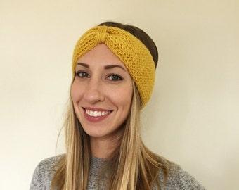 Knit Earwarmer. Womens Knit Earwarmer. Knit Headband. Womens Knit Headband. Knit Turban Headband. Knit Turban. Womens Accessories.