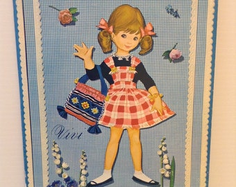 Paper Doll Set With Pop-Up Nursery 1960's Vivi