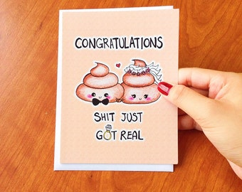 Funny Wedding card congratulations, Wedding Congratulations card, funny wedding cards, mature wedding card funny, wedding congrats card