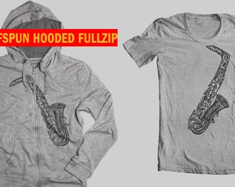 Saxophone shirt. Jazz t shirt. Woodwinds accessories. Alto Sax Jazz tee. Sax Tee. Saxophone Hoodie. saxophone charm. Woodwind instruments