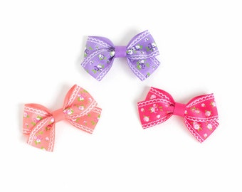 Baby Hair Bow | Toddler Hair Bow | Bows for Babies | Hair Bows for Girls | Baby Headband Bow | Floral Hair Bow | Small Hair Bow for Girl