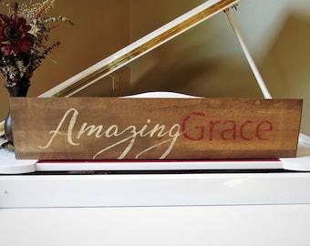 Amazing Grace Wall Decor amazing grace sign | etsy