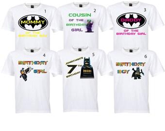 Batman Lego Shirt images * Digital Iron On Image for shirt* PERSONALIZABLE * DIY PRINTABLE