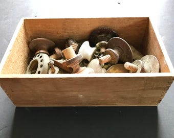 Box of antique knobs and latches***FREE SHIPPING***