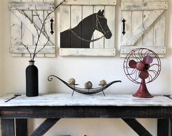 Delicieux RUSTIC HORSE ART, 3 Pc Set, Horse Nursery Set, Equestrian Wall Decor,