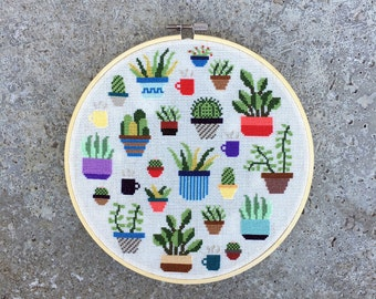 Botany - Modern cross stitch pattern PDF - Instant download