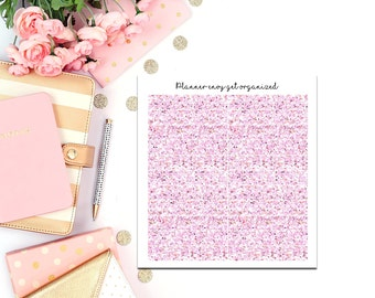Pale Pink Glitter Headers #338