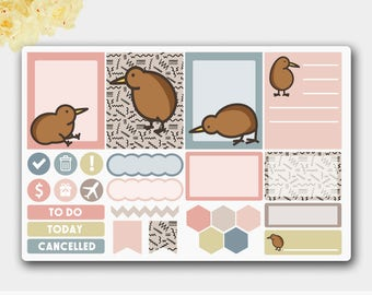 Weekly Sticker Set, Playful Kiwi Functional Weekly Stickers, Funny Stickers, Planner Stickers, Weekly Stickers , Weekly Kit, Stickers