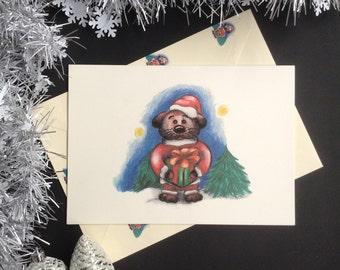Little Bear Christmas Card. Hand made greeting cards. Illustrated cards. Bear illustration. Hand drawn illustration. Winter cards. Christmas