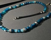 "Beaded Necklace with Blue Agate - ""Chains of Atlas"""