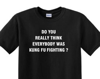 Do you Really Think Everybody Was KUNG FO FIGHTING ? - Funny t-shirt