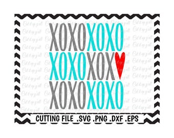 XOXO Svg, Png, Dxf, Eps, Cutting/ Printing Files For Silhouette Cameo/ Cricut and More, Svg Download.