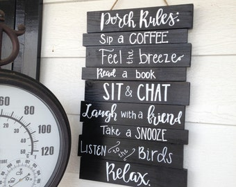 Deck rules, deck rules sign, patio rules, porch rules, patio sign, Porch sign, outdoor decor, wood outdoor sign, wood deck sign, welcome