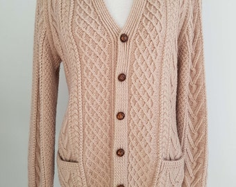 Brown Chunky Knit Vintage Cardigan
