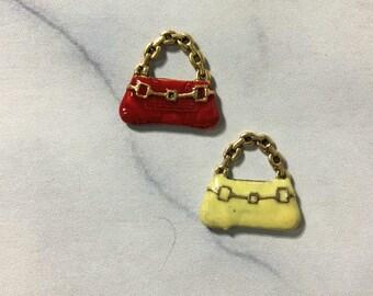 Enamel Handbag charm
