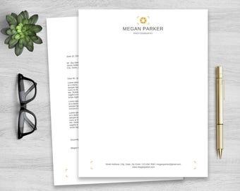 Letterhead Template for Word, Personalized Notepad, Business Letterhead, Custom Letterhead, DIY Stationary, Custom Stationary, Photography